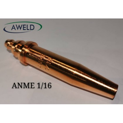 """Aweld ANME Cutting Nozzles ( 1/32"""" , 3/64"""" , 1/16"""" , 5/64"""" , 1/8"""" )"""